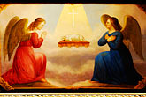 painting stock photography | Religious Art, Painting of the Annunciation, image id 4-960-216
