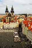 elevated view stock photography | Czech Republic, Prague, Old Town Square, image id 4-960-291
