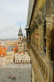 view from the roof stock photography | Czech Republic, Prague, Old Town Square from tower of Old Town Hall, image id 4-960-312
