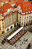 elevated view stock photography | Czech Republic, Prague, Old Town Square , image id 4-960-352