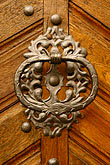 front door stock photography | Czech Republic, Prague, Door knocker, image id 4-960-496