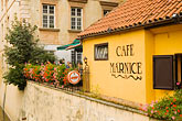 tiled roof stock photography | Czech Republic, Prague, Outdoor cafe, image id 4-960-6300