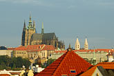 elevated view stock photography | Czech Republic, Prague, View of Hradcany Castle, image id 4-960-6413