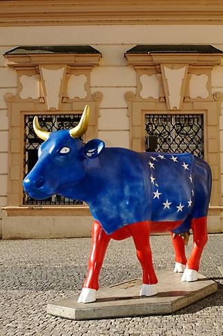image 4-960-6461 Czech Republic, Prague, Painted cow, Prague Cowparade