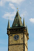 town hall clock tower stock photography | Czech Republic, Prague, Old Town Hall, Staromestska Radnice, image id 4-960-6475