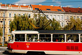 red stock photography | Czech Republic, Prague, Mala Strana, tramcar, image id 4-960-6496