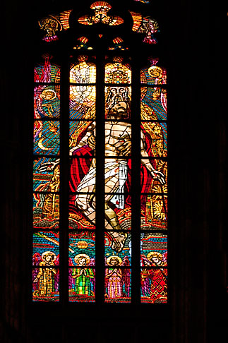 image 4-960-6538 Czech Republic, Prague, Stained Glass, St Vitus Cathedral