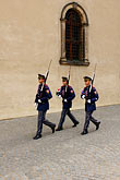 three people only stock photography | Czech Republic, Prague, Hradcany Castle, Honor Guards, image id 4-960-6560
