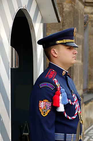 image 4-960-6629 Czech Republic, Prague, Hradcany Castle, Castle guard