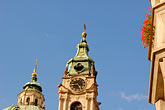 lookout stock photography | Czech Republic, Prague, Mala Strana, St Nicholas Church, image id 4-960-6715