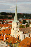 church steeple stock photography | Czech Republic, Prague, Mala Strana, View from St Nicholas Church, image id 4-960-6719