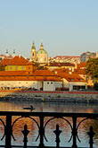 church steeple stock photography | Czech Republic, Prague, Mala Strana across the River Vlatava, image id 4-960-6781