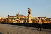 statue on bridge stock photography | Czech Republic, Prague, Charles Bridge, image id 4-960-6825