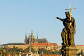 hradcany castle stock photography | Czech Republic, Prague, Charles Bridge, image id 4-960-6834
