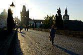 outline stock photography | Czech Republic, Prague, Charles Bridge, image id 4-960-6849