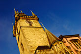 city hall stock photography | Czech Republic, Prague, Old Town Hall, Stare Mesto, image id 4-960-6886