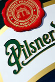 signage stock photography | Czech Republic, Czech, Pilsner beer, image id 4-960-6933