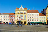 man on the plaza stock photography | Czech Republic, Ceske Budejovice, Main Square, image id 4-960-6965