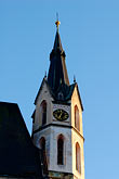 spire stock photography | Czech Republic, Cesky Krumlov, St. Vitus Church, image id 4-960-6972
