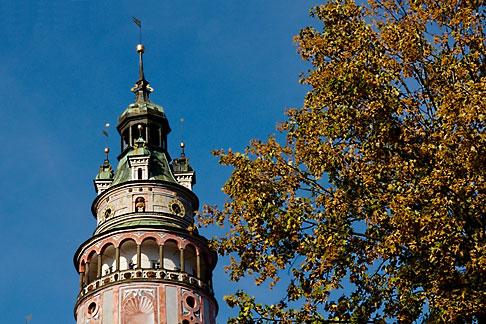 image 4-960-7072 Czech Republic, Cesky Krumlov, Castle Round Tower