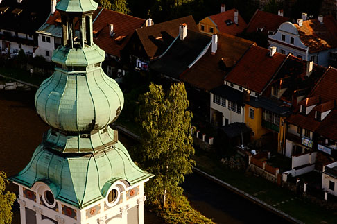 image 4-960-7078 Czech Republic, Cesky Krumlov, St Jost Church tower