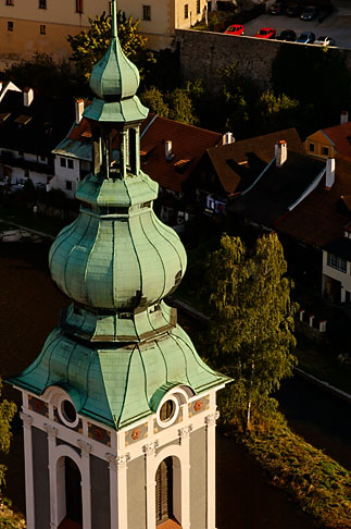 image 4-960-7079 Czech Republic, Cesky Krumlov, St Jost Church and town