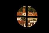 roof stock photography | Czech Republic, Cesky Krumlov, View from castle, image id 4-960-7090