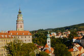 roof stock photography | Czech Republic, Cesky Krumlov, Cesky Krumlov castle and town, image id 4-960-7114