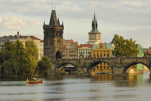 image 4-960-715 Czech Republic, Prague, Charles Bridge over the River Vlatava