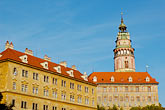 tower stock photography | Czech Republic, Cesky Krumlov, Cesky Krumlov castle, image id 4-960-7156