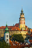 roof stock photography | Czech Republic, Cesky Krumlov, Cesky Krumlov castle and town, image id 4-960-7203