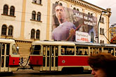 billboard stock photography | Czech Republic, Prague, Tramcar, image id 4-960-7405