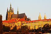 rooftops stock photography | Czech Republic, Prague, Hradcany Castle, image id 4-960-741