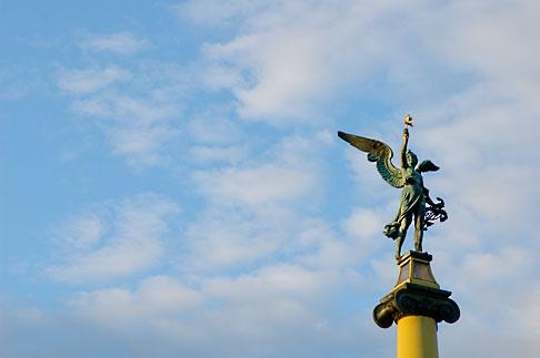 image 4-960-7442 Czech Republic, Prague, Statue of torch bearer, Cechuv Bridge