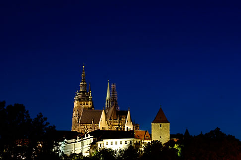 image 4-960-7498 Czech Republic, Prague, Hradcany Castle at night