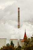 smoggy stock photography | Czech Republic, Chvaletice, Power Plant, image id 4-960-7526