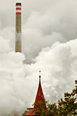 smoggy stock photography | Czech Republic, Chvaletice, Power Plant, image id 4-960-7529