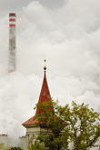 polluted stock photography | Czech Republic, Chvaletice, Power Plant, image id 4-960-7555