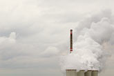 smoggy stock photography | Czech Republic, Chvaletice, Power Plant, image id 4-960-7575