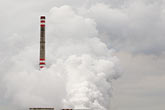 smoggy stock photography | Czech Republic, Chvaletice, Power Plant, image id 4-960-7580