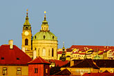 rooftops stock photography | Czech Republic, Prague, St. Nicholas Church, Mala Strana, image id 4-960-772