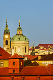 rooftops stock photography | Czech Republic, Prague, St. Nicholas Church, Mala Strana, image id 4-960-773