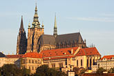rooftops stock photography | Czech Republic, Prague, Hradcany Castle, image id 4-960-779