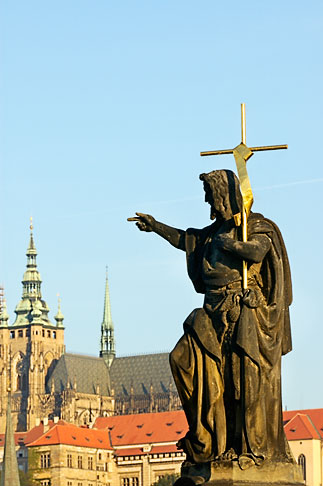 image 4-960-782 Czech Republic, Prague, Statue of John the Baptist