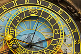 gilt stock photography | Czech Republic, Prague, Astronomical Clock, Old Town Square, image id 4-960-792
