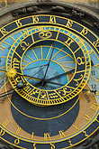 gilt stock photography | Czech Republic, Prague, Astronomical Clock, Old Town Squareclock, image id 4-960-795