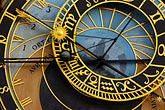 gilt stock photography | Czech Republic, Prague, Astronomical Clock, Old Town Square, image id 4-960-800
