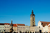 travel stock photography | Czech Republic, Ceske Budejovice, Main Square, image id 4-960-840