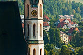 spire stock photography | Czech Republic, Cesky Krumlov, St. Vitus Church, image id 4-960-974