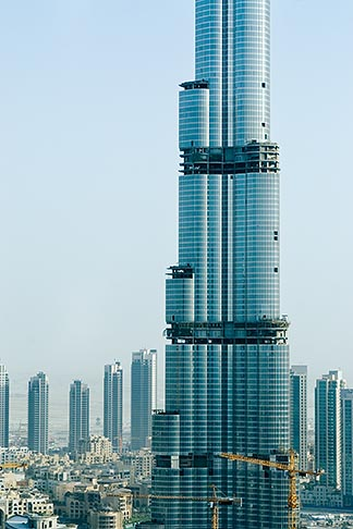 image 8-730-1509 United Arab Emirates, Dubai, Burj Dubai tower, as of May 2008 the tallest man made structure on Earth